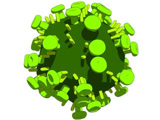 isolierter hi virus