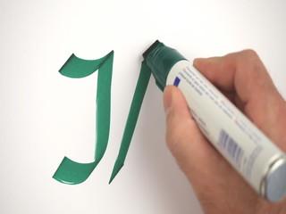 wort  schreiben neuen hand stift ja