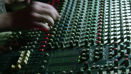 Hands on mixing sound board