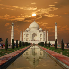 Taj Mahal Sunset (India)