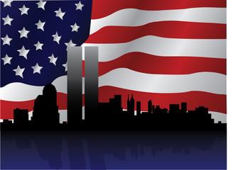 Patriotic NY Skyline Vector