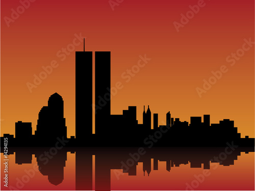 new york skyline wallpaper. New York Skyline Vector