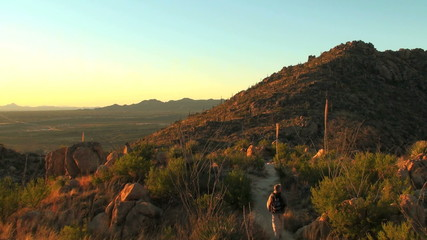 Hike at sunset - HD