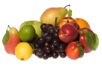 Fresh frutis on white