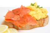 Smoked Salmon with Scrambled Eggs poster
