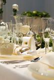 Fototapety Eingedeckte Festtafel
