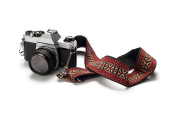 Film Camera on White