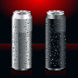 Fototapety realistic cans