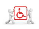 Help invalids. Teamwork poster