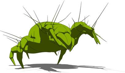 illustration einer milbe