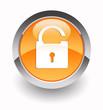 Unlock glossy icon