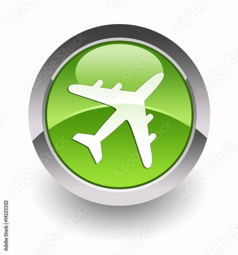 Airplain glossy icon