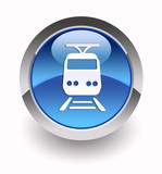 Train glossy icon