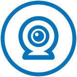 Webcam vector icon poster