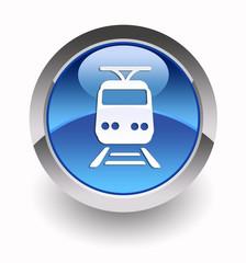 Train glossy icon