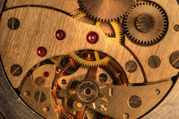 gold mechanism of analog hours