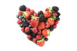 heart made of berries