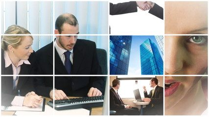 Business people at work in High Definition