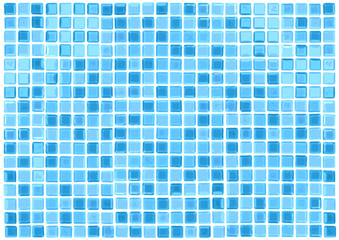 Vector Seamless Blue Tiles Background