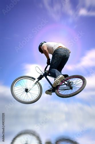 Deurstickers Biker