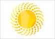 Orange solar swirl; clip-art