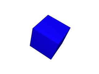 blauer Quader