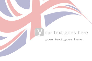 Stylized british flag background