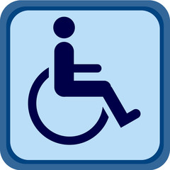 Blue Handicap sign