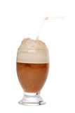 Isolated Cola ice cream float