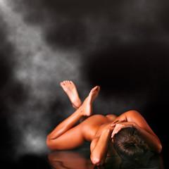 Naked suntanned body