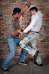 Street boys fight