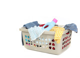 Basket Full of Dirty Laundry With Detergent poster