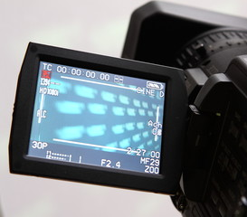 display of an full HD camcorder
