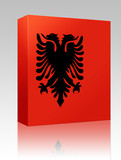 Flag of Albania,  box package poster
