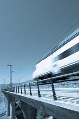 Blue speed train