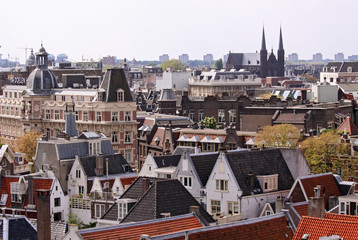 view over amsterdam city