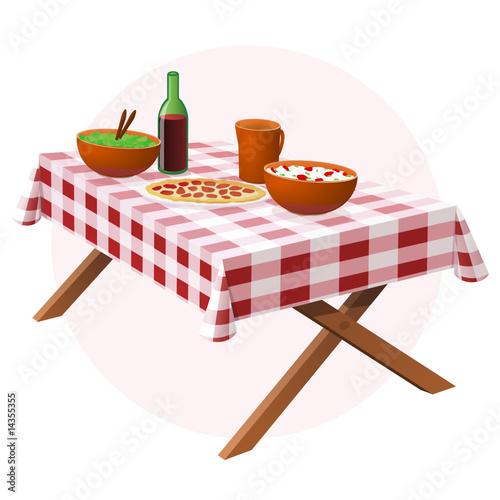 Table de pique-nique (détouré) - 14355355