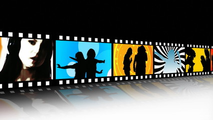 HD Entertainment Movie Film Strip
