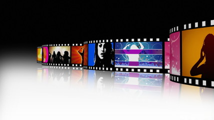 Moving entertainment film strip