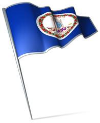Flag pin - Virginia (USA)