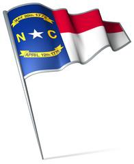 Flag pin - North Carolina (USA)