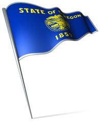 Flag pin - Oregon (USA)