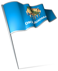 Flag pin - Oklahoma (USA)