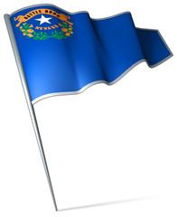 Flag pin - Nevada (USA)
