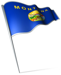 Flag pin - Montana (USA)