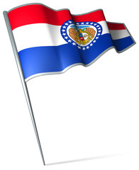 Flag pin - Missouri (USA)