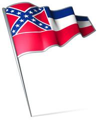 Flag pin - Mississippi (USA)