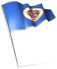 Flag pin - Minnesota (USA)