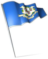 Flag pin - Connecticut (USA)