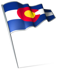 Flag pin - Colorado (USA)